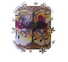 Horse and Carousel Flowers by mandyemblow