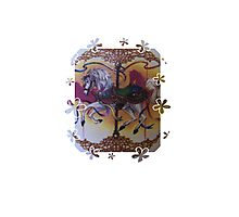 Horse and Carousel Flowers Photographic Print