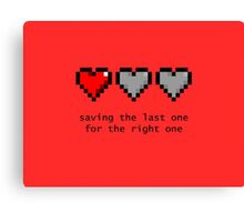 Saving Your Heart Canvas Print