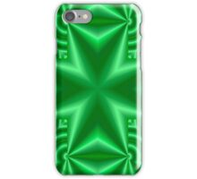 Green abstract cross iPhone Case/Skin