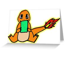 CHARMANDER'S GAMEBOY Greeting Card