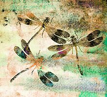 Mauritius Vintage Dragonflies Colours C by Vitta