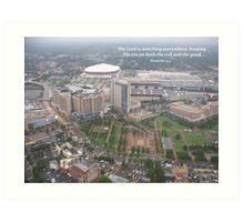 Overlooking the Olympic Park, Atlanta Art Print