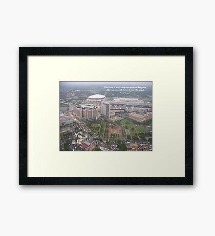 Overlooking the Olympic Park, Atlanta Framed Print