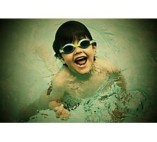 swimming in pool Photographic Print
