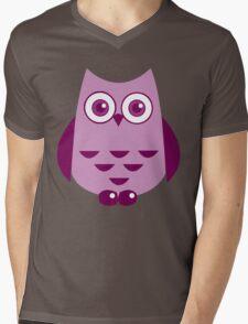 Violet Owl Mens V-Neck T-Shirt