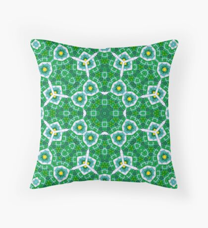 Abstract Pattern Green blue Throw Pillow