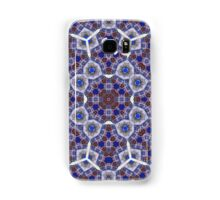 Modern blue abstract pattern Samsung Galaxy Case/Skin