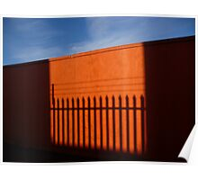 Orange Fence Poster