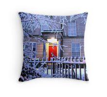 WINTER DOOR Throw Pillow