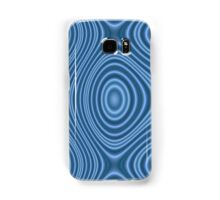 Blue abstract line pattern Samsung Galaxy Case/Skin