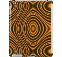 Trendy orange pattern lines iPad Case/Skin