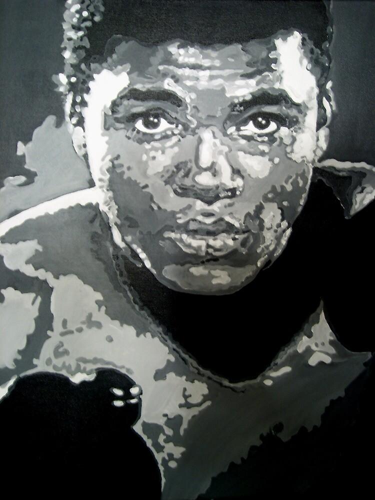 Mohammed Ali iconic pop art piece by artist Debbie Boyle - db artstudio by Deborah Boyle