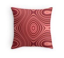 Red lines pattern Throw Pillow