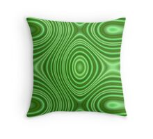 Unique green line pattern Throw Pillow