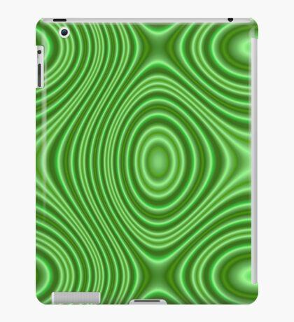 Unique green line pattern iPad Case/Skin