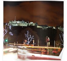 Edinburgh Castle at Christmas Poster