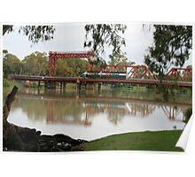 View from the River-bend Caravan Park,Paringa,South Australia. Poster