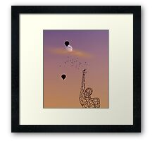 No one is free, even the birds are chained to the sky.   Framed Print