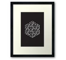 Impossible Shapes: Hexagon Framed Print
