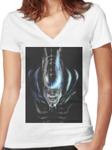 Teeth Women's Fitted V-Neck T-Shirt