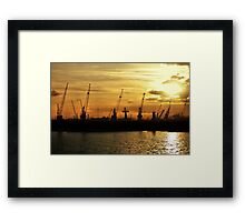 Harbour works Framed Print