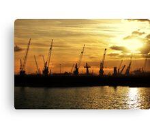 Harbour works Canvas Print