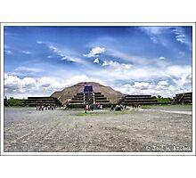 Mexico. Teotihuacan. Piramide de la Luna. Photographic Print