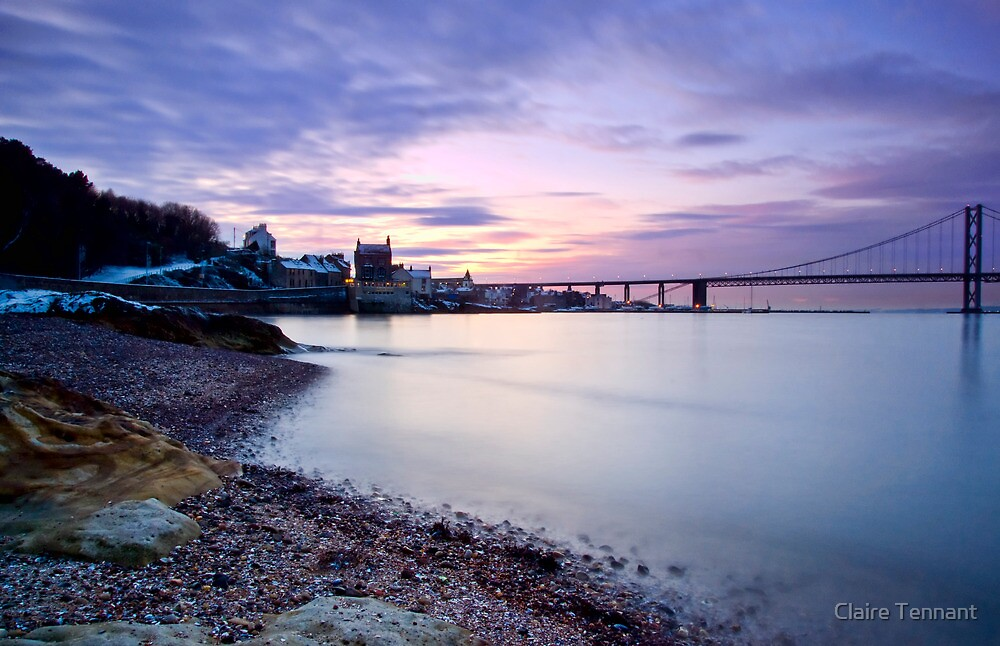 Forth Road Bridge at Dusk by Claire Tennant