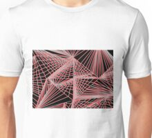 Spinning Cube - Red Unisex T-Shirt