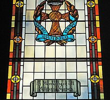 Military Nurses stained glass-Belfast  by Ferdinand Lucino