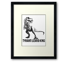 Tyrant Lizard King Framed Print