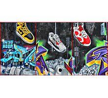 Sneakers. Bondi graffiti Photographic Print