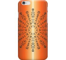 Orange/red Pattern with strange sign iPhone Case/Skin