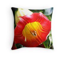 Trumpet plant Throw Pillow