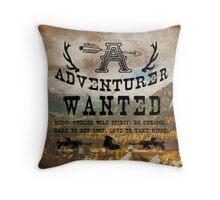 Adventurer Wanted Throw Pillow