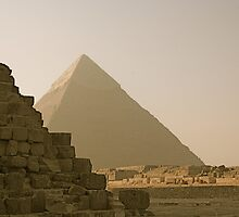 Pyramid of Khafre  by Gursimran Sibia