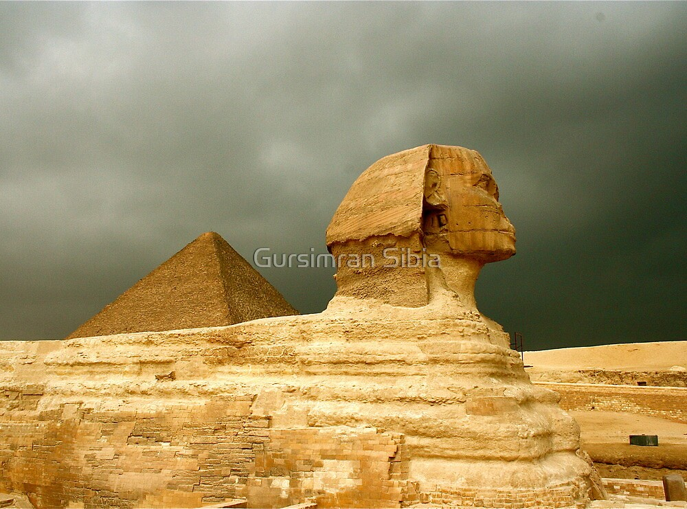 Great Sphinx & Pyramid of Khafre by Gursimran Sibia
