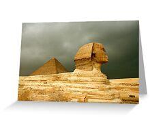 Great Sphinx & Pyramid of Khafre Greeting Card