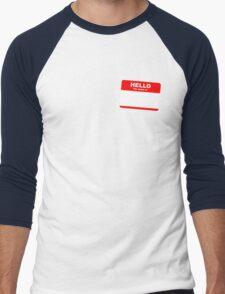 Hi, my name is ........ Men's Baseball ¾ T-Shirt