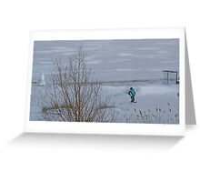 A Boy in Winter Greeting Card