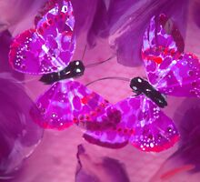 Tulips and Butterflies under water. by Tamarra