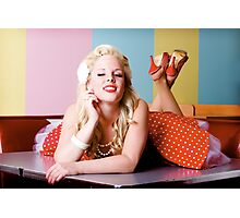 Classic 50's Diner Pin Up Photographic Print