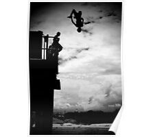 Jumping the Jetty - Coffs Harbour - New South Wales Poster