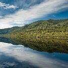 Mirrored Wilderness - Gordon River, Tasmania by Liam Byrne