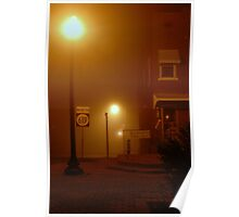 Morning Fog At Jamestown Square Poster