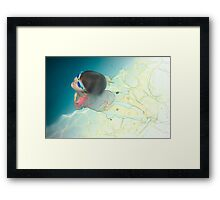 back to the surface Framed Print