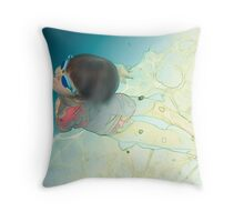 back to the surface Throw Pillow
