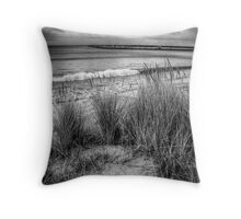 The grassy knoll at Apollo Bay in monochrome Throw Pillow