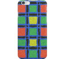 Colorful square stylish pattern iPhone Case/Skin